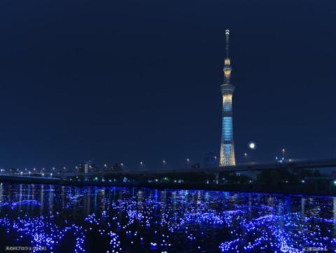 Lámparas en el Sumidagawa