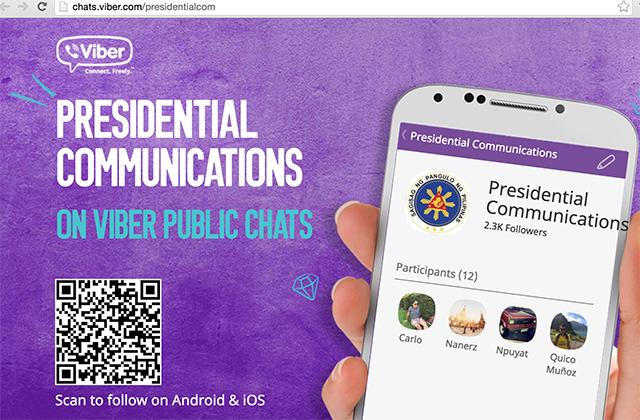 Viber Public Chat - Presidential Communication