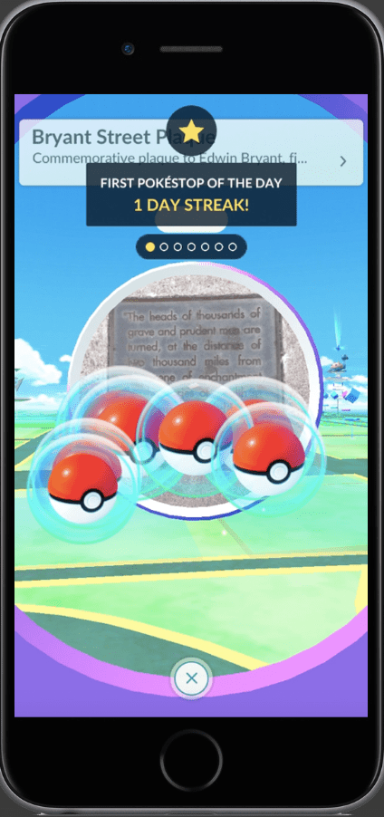 Daily Bonus at the PokéStop and spinning the Photo Disc