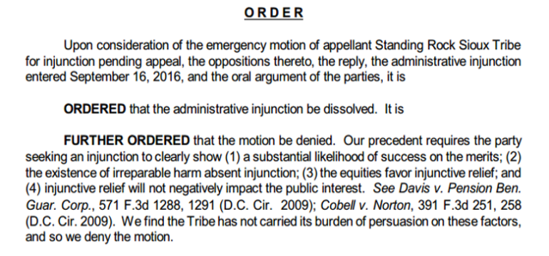 Federal Appeals Court Rules to Allow DAPL Construction