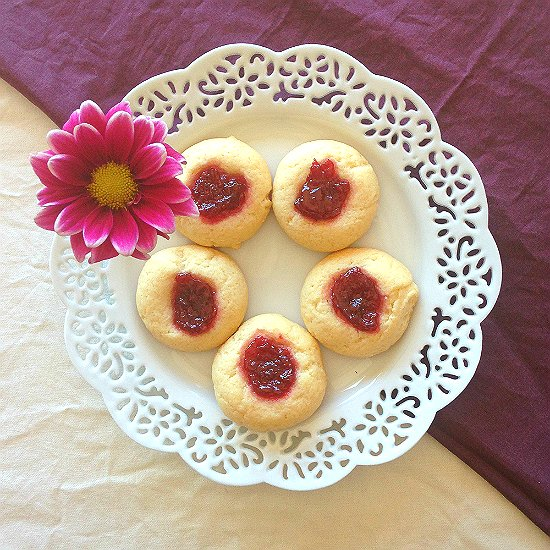 These Happy Thumbprint cookies make you so happy all the time