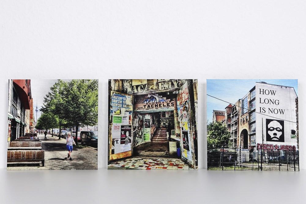 Fotokunst auf Alu Dibond gebürstet - Berlin - the place to be