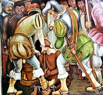 La esclavización, la tortura, el robo y despojo de riquezas y territorios fue una constante de la colonización española en América Latina.