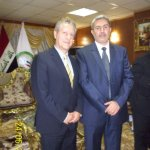 Dr Massimo Restivo and Past Baghdad Governor