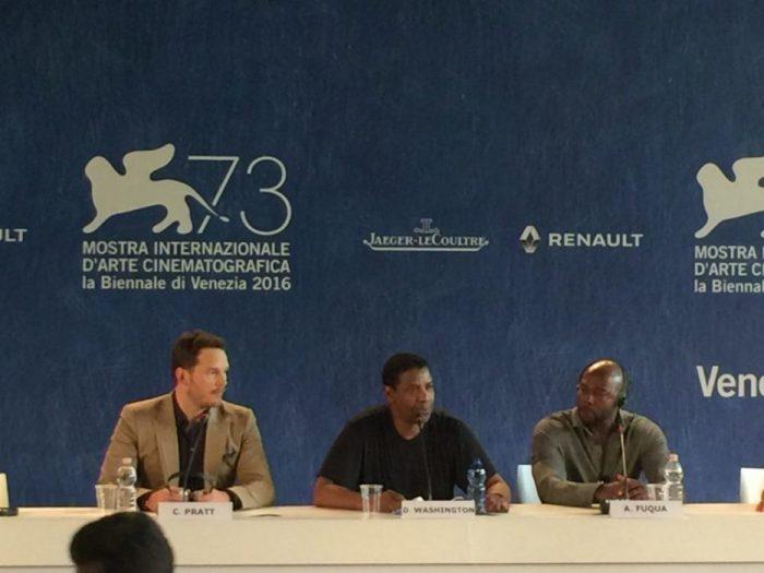 Venezia 73 – La conferenza stampa di I Magnifici 7 con gli attori e il regista