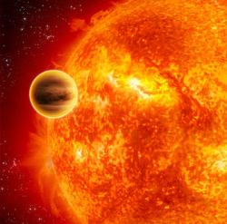 Artist's impression of a transiting exoplanet (ESA - C.Carreau)