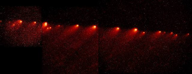 The force of gravity can cause comets to rip apart.