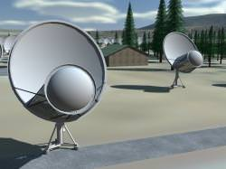 Computer illustration of the ATA. Image credit: SETI Institute