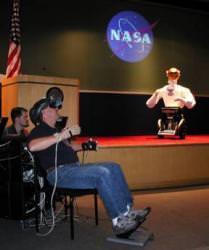 A teleoperation demo at NASA headquarters. Image credit: NASA