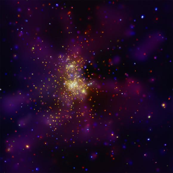 Chandra Image of Westerlund 2.  Image Credit:   NASA/CXC/Univ. de Liège/Y. Naze et al