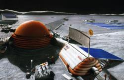 The 1989 Inflatable Moon Base concept (credit: NASA)