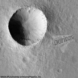 An artists impression of what a large-scale logo may look like from space (credit: NASA)