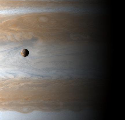 Jupiter and moon Io (NASA)