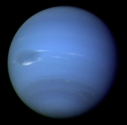 The planet Neptune - could its orbital deviations reveal Planet X (NASA)