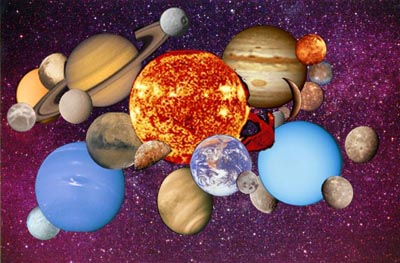 Pictures of all the objects in the Solar System. Image credit: N
