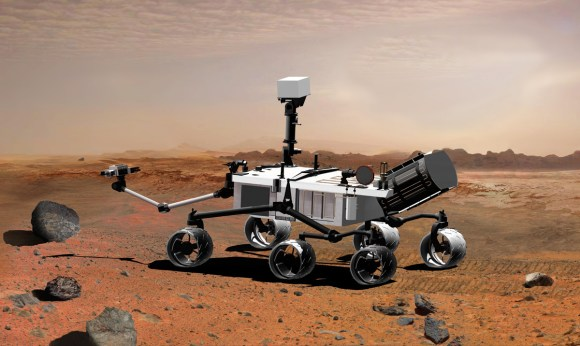 The Mars Science Laboratory.  Credit:  JPL