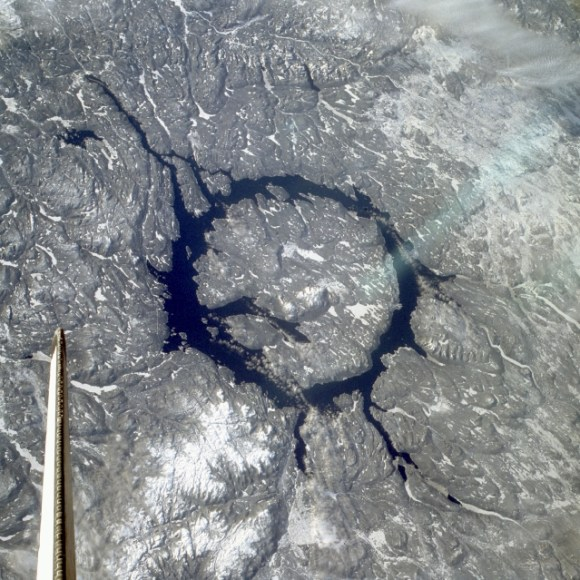 Manicouagan Reservoir.  Credit: NASA