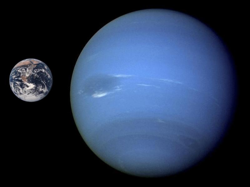 Les planètes Neptunecompared