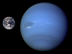 Neptune compared to Earth. Image credit: NASA