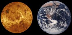 Earth and Venus. Image credit: NASA