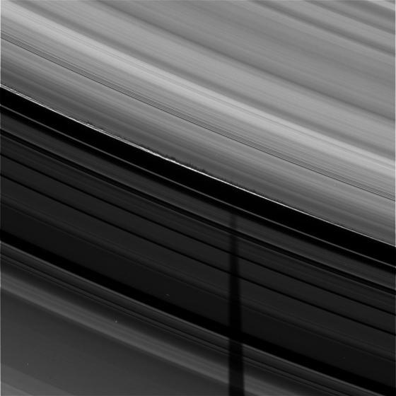 Saturn ring shadows. Credit: NASA/Cassini