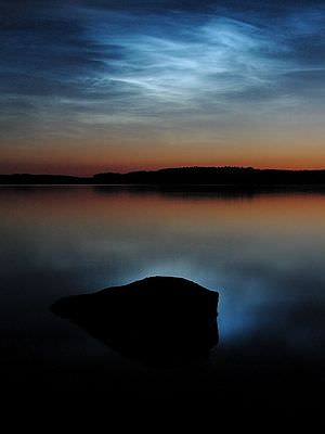 Noctilucent clouds over Saimaa. Credit: Wikipedia