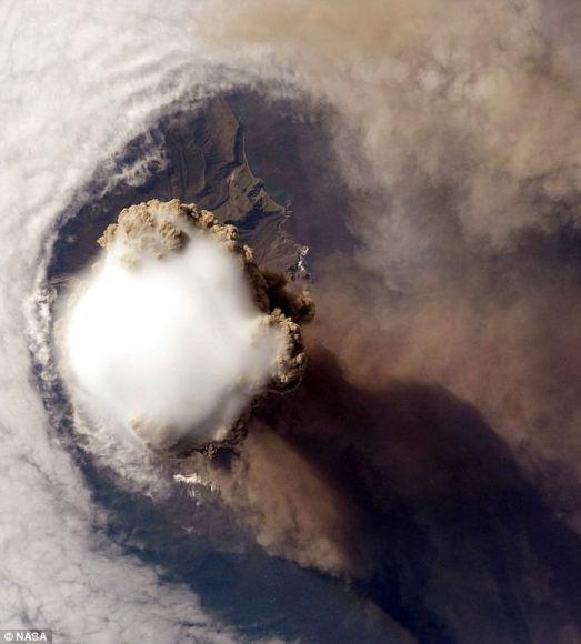 Third image of the volcano. Credit: NASA