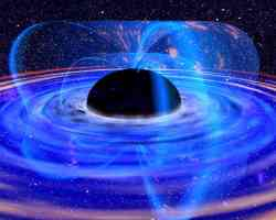 Magnetic field around a black hole. Image credit: NASA