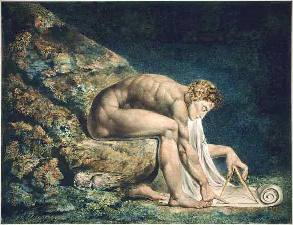 William Blake's Newton (1795), depicted as a divine geometer. Image Credit: William Blake Archive/Wikipedia