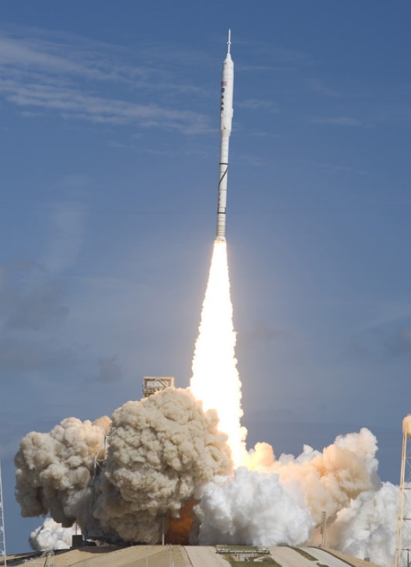 Launch day.  Photo credit: NASA/Sandra Joseph and Kevin O'Connell
