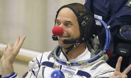 Guy Laliberte prior to his flight to the ISS.