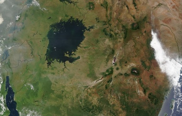 Lake Victoria, as viewed by the Moderate Resolution Imaging Spectroradiometer (MODIS) o