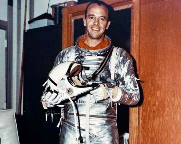 Alan Shepard prepares for his historic flight on May 5, 1961. Credit: NASA