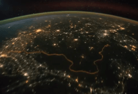 India-Pakistan Border from ISS