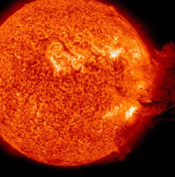 Coronal Mass Ejection as viewed by the Solar Dynamics Observatory on June 7, 2011. Image Credit: NASA/SDO