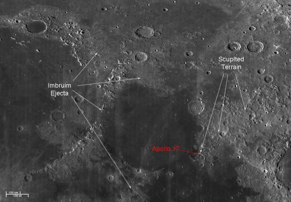 LROC Data of Serenitatis basin area on the Moon