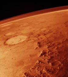 Mars' thin atmosphere. Image credit: NASA