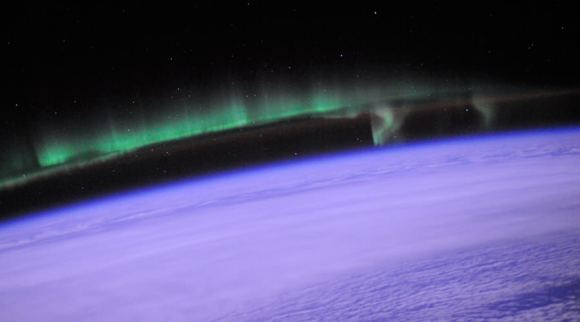 This photo of the aurora was taken by astronaut Doug Wheelock from the International Space Station on July 25, 2010. Credit: Image Science & Analysis Laboratory, NASA Johnson Space Center
