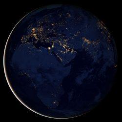 City lights of Africa