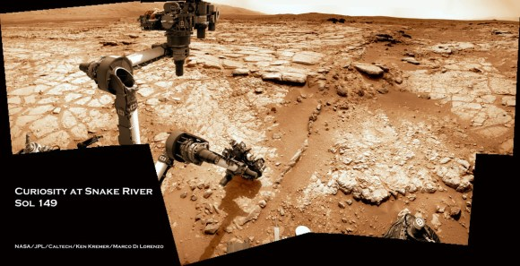 Curiosity at Snake River Sol 149_5a_Ken Kremer