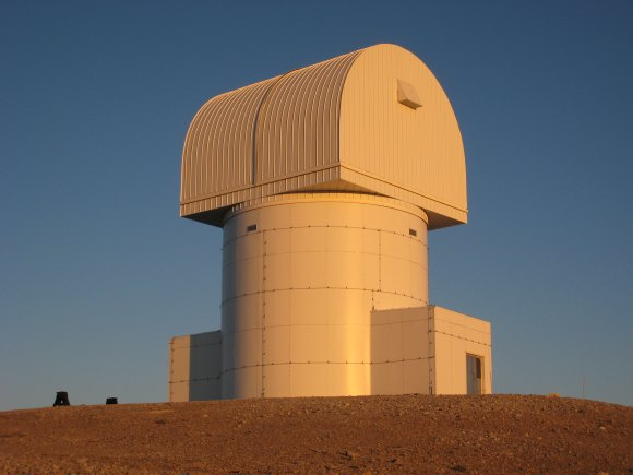 An image of the enclosure of the new 2.3-m Aristarchos telescope, sited at Helmos Observatory. Credit: P. Boumis, National Observatory of Athens.