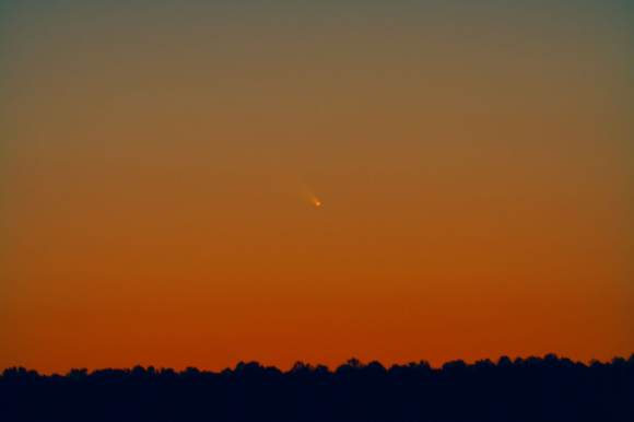 Comet PANSTARRS as seen from Arizona on March 10, 2013. Credit and copyright: Chris Schur.