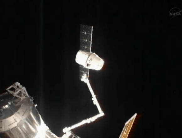Dragon was released from the International Space Station on March 26, 2013 during the CRS-2 mission. Credit: SpaceX.