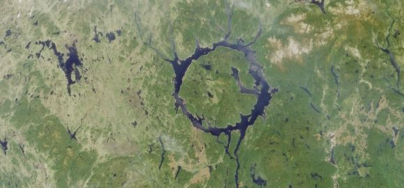 The Manicouagan impact crater in Quebec, Canada (image credit: NASA)