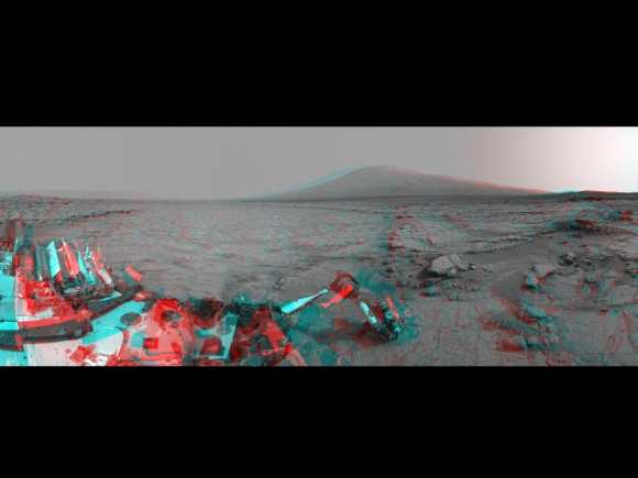 Mars Stereo View from 'John Klein' to Mount Sharp. Credit: NASA/JPL-Caltech.