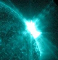 An X1.6 flare eruption on Jan. 27, 2012 (NASA/SDO/AIA)
