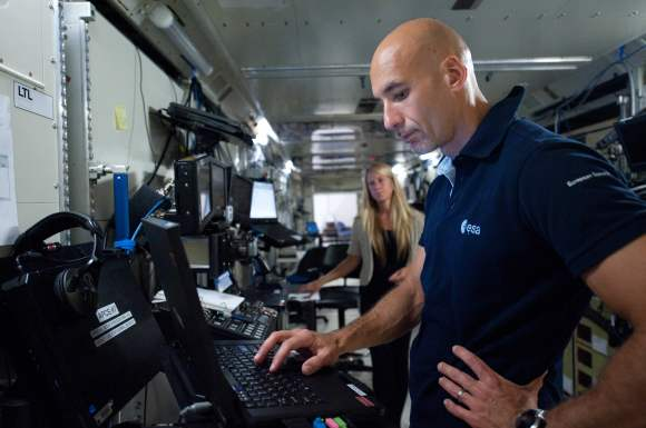 Expedition 36/37 flight engineer Luca Parmitano will -- in an unprecedented move -- send updates from space through a Minnesota teenager. Credit: NASA/Lauren Harnett