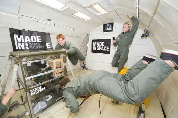 Made in Space demonstrates 3D Printing technology headed to the ISS next year. (Credit: Made in Space Inc./NASA).