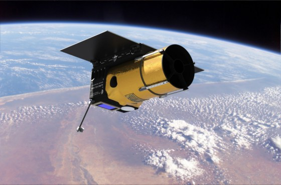 Artist concept of the Arkyd telescope in space. Credit: Planetary Resources Inc.