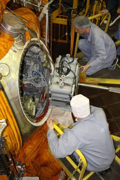 The Bion-M hardware is readied for flight. Credit: Russian Federal Space Agency (Roscosmos)